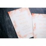 Serenity Marble Wedding Card Design
