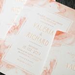 Serenity Marble Invite Card Design