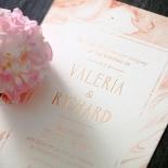 Serenity Marble Wedding Invite