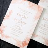 Serenity Marble Wedding Invite Design