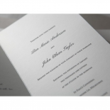 Wedding wording and classic Italic fonts printed on traditional matte paper