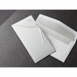 Embossed designed classic invitation pocket and insert with matching envelope