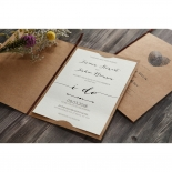 Simply Rustic Wedding Invite Card Design