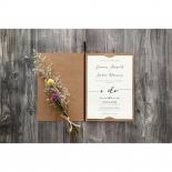 Simply Rustic Wedding Invitation Design