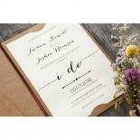 Simply Rustic Wedding Invitation Card Design