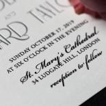 Star Shower Wedding Invite Card