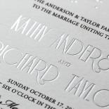 Star Shower Wedding Card Design