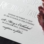 Star Shower Wedding Invite Card Design