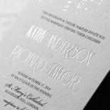 Star Shower Wedding Invitation Card Design
