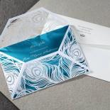 Stylish Laser cut Peacock Feather Digital Wedding Invitation Design