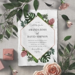 Tropical Island Wedding Invite Card Design