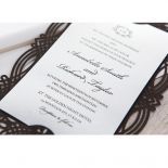Victorian Charm Wedding Invite Card Design