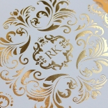 Victorian Extravagance with Foil Wedding Invite