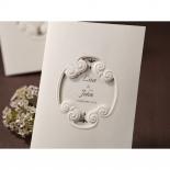 Cut out designed folded vintage invitation design