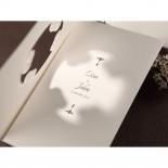 Vintage frame cut out designed bridal card