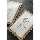 Vintage Lace Frame Invite Design