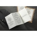 Vintage Lace Frame Wedding Invite Card Design