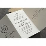Vintage Lace Frame Wedding Invite Design