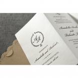 Vintage Lace Frame Wedding Invitation Design