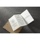 Vintage Lace Frame Wedding Invitation Card Design