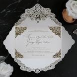 Vintage Prestige with Foil Wedding Invite Card