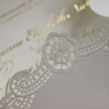 Vintage Prestige with Foil Wedding Card