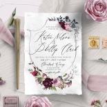 Watercolor Rose Garden Wedding Invitation Design