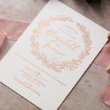 Whimsical Garland Wedding Invite