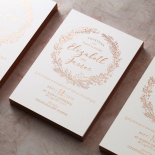Whimsical Garland Invitation Card Design