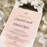 White Lace Drop Invite Design