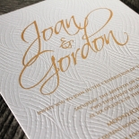Woven Love Letterpress Wedding Invite