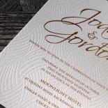 Woven Love Letterpress Invite Card