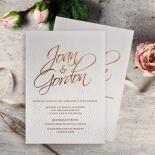 Woven Love Letterpress Invite