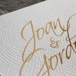 Woven Love Letterpress Wedding Card