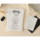 Captivating Ebony Wreath - Wedding Invitations - WP-CU550-B-01 - 178947