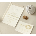Letterpressed Monogram with Foil  - Wedding Invitations - WP-IC55-BLGG-01 - 178933