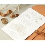 Letterpressed Castle Illustration - Wedding Invitations - WP-IC55-LP-02 - 178821