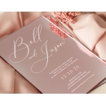 Lovely Rose Gold Mirror - Wedding Invitations - ACR-RGMR-WH-1 - 179014