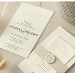 Blind Embossed Regal Crest - Wedding Invitations - WP-IC55-BLBF-01 - 178923