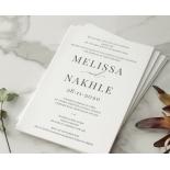 Black and Chic Letterpress - Wedding Invitations - WP-IC55-LP-04 - 179047