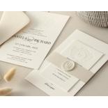 Blind Embossed Regal Crest - Wedding Invitations - WP-IC55-BLBF-01 - 178926