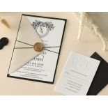 Captivating Ebony Wreath - Wedding Invitations - WP-CU550-B-01 - 178949