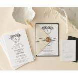 Captivating Ebony Wreath - Wedding Invitations - WP-CU550-B-01 - 178950