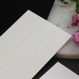Chic Blind Letterpress on Cotton White - Wedding Invitations - WPBD-01 - 178502