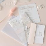 Gold Foil Stamped Floral Laser Cut Elegance - Wedding Invitations - BH1680-F - 178755