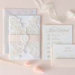 Gold Foil Stamped Floral Laser Cut Elegance - Wedding Invitations - BH1680-F - 178752