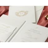Sophisticated Textured White Hardcover  - Wedding Invitations - HC-TW01 - 178984
