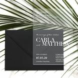 White Ink on Modern Acrylic  - Wedding Invitations - BON-CRLA - 178317