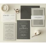 Chic Monochrome - Wedding Invitations - GI-CP300-WH - 178911