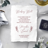Bouquet of roses wedding stationery gift registry enclosure invite card design